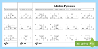 addition pyramids activity sheet 2 addition pyramids addition