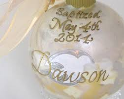 personalized baptism ornament baptism keepsake etsy