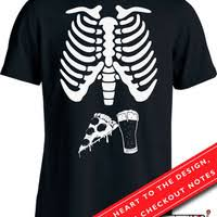 Twin Pregnancy Halloween Costumes Twin Pregnant Skeleton Shirt Pregnant Jackpottees