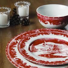 gibson elite winter cottage 16 dinnerware set