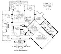 hot springs cottage 2492 house plans by garrell associates inc hot springs cottage 2492 house plan 16110 1st floor plan