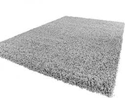tapis shaggy shaggy rug high pile pile modern carpet uni grey dimension