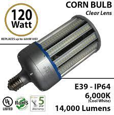 120 watt led corn light bulb 600w equivalent 14 000 lumens corns
