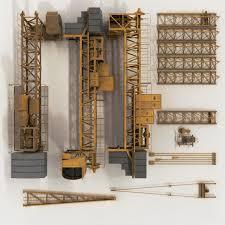 tower crane pbr shader 3d model cgtrader