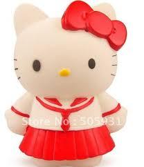 buy plastic cute hello kitty piggy bank saving box red color