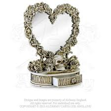 oracle of narcissus mirror with drawer alchemy gothic heart