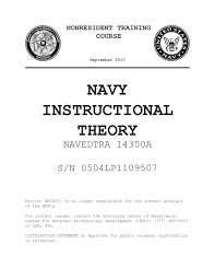 naval instructional theory 14300a cadet advancement homeport