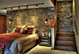 Bedroom Ideas Brick Wall Diy Brick Wall Interior Home Design Ideas