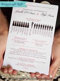 wedding program ceremony silhouette wedding program printable unique wedding program