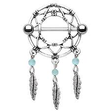 nipple rings images Freshtrends dreamcatcher surgical steel nipple ring barbell Jpg