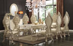 formal dining table set homey design hd 13012 9 pieces traditional style dining table set