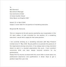 sample marketing cover letter example 11 download free