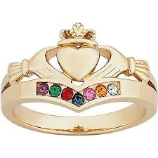 claddagh ring personalized sterling silver or 14k gold silver family