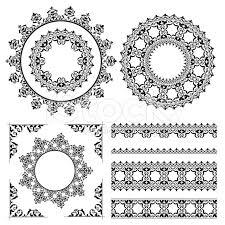 vintage ornaments and frames vector set eps 8 vintage