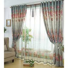 Curtains Online Shopping Gorgeous Country Blue Flowers Patterns Buy Curtains Online