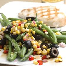 green bean recipes for thanksgiving green bean salad with corn basil u0026 black olives recipe eatingwell