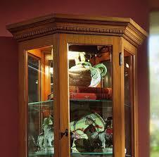 Pulaski Curio Cabinet Used Curio Cabinet In English Oak Ii By Pulaski Home Gallery Stores