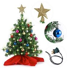 20 tabletop mini tree set with clear led