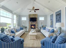 Best TV Rooms Images On Pinterest Tv Rooms Coastal Family - Blue family room ideas