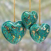 wood ornaments birds set of 3 shop from
