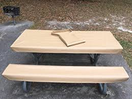 3 piece fitted picnic table bench covers amazon com table glove fitted marine grade vinyl picnic