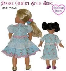 genniewren designs anneke country style dress doll clothes pattern