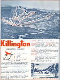 New England Area Map by 1964 65 Killington Trail Map New England Ski Map Database