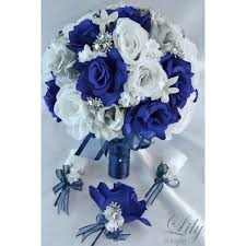 royal blue corsage and boutonniere navy blue silver white bouquets corsages boutonnieres
