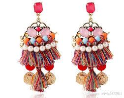 vintage earrings 2018 vintage earring fringe tassel earrings resin pearl