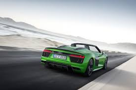 audi r8 ads audi r8 spyder v10 plus goes double trouble in official ad