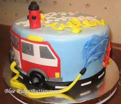 firetruck cakes engine cake blue ridge buttercream