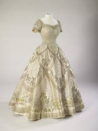 dress and robes designed by norman hartnell for the coronation of