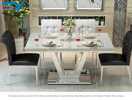 marble and stainless steel dining table tata 2017 stainless steel modern malaysia marble dining table