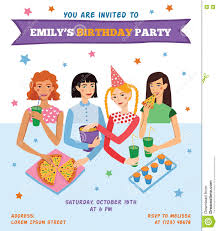 birthday invitation for teenager vector invitation flyer card for teenage u0027s birthday party