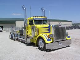 peterbilt trucks peterbilt trucks 359 yellow semi tractor truck wallpaper