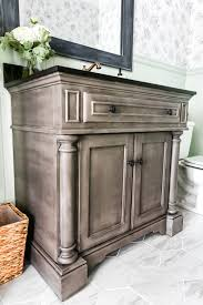 weathered gray wood look vanity makeover bless u0027er house
