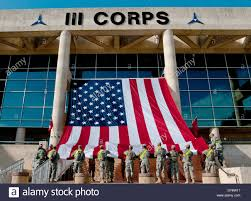 Flag Corps Us Army Soldiers Hang An Giant American Flag From The Iii Corps