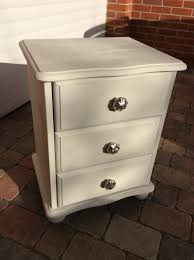 rustoleum chalk paint winter grey pine bedside table drawers with