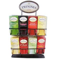 twinings of tea bag variety pack with display stand 8 boxes