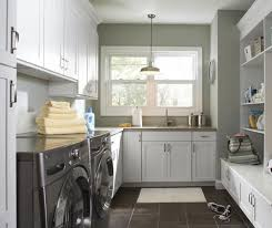 Discount Laundry Room Cabinets Laundry Room Cabinets In Painted White Maple Aristokraft