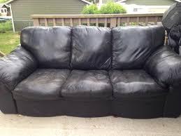 Leather Sofa Used Impressive Free Used Black Leather West Shore