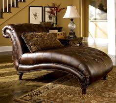 Floral Chaise Furniture Brown Leather Oversized Leather Tufted Sofa With Nails