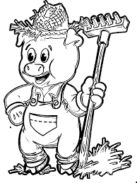 straw pig coloring page wecoloringpage
