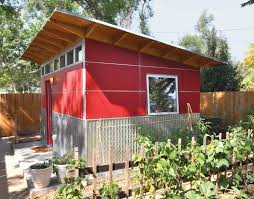 a prefab shed that provides refuge for work and play dwell