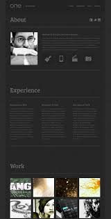 Free One Page Resume Template 50 Best Html Resume Cv Vcard Templates 2017 Freshdesignweb