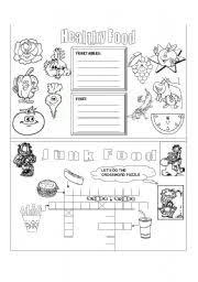 collection of solutions healthy food and junk food worksheets