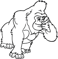 gorilla coloring pages snapsite me