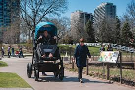 a stroller company made a grown up version for adults to test ride