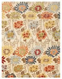 Modern Floral Rugs Wildflower Modern Floral Rug J37745