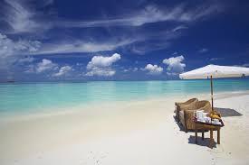 Beach Umbrella And Chair Beaches Beach Tropical Beautiful Clouds Paradise Umbrella Chair